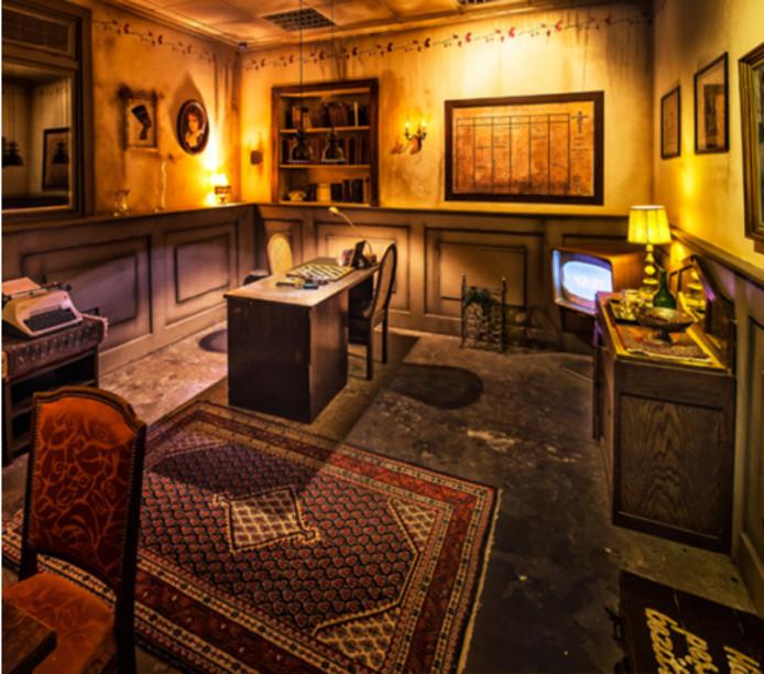 Een van de escape-rooms in de Voltage in Tilburg.