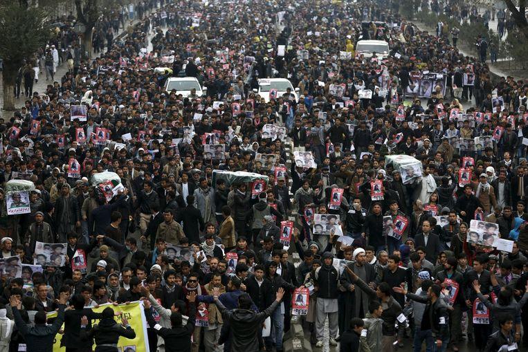 Betogers in Kabul Beeld reuters