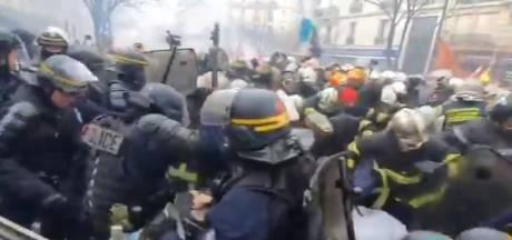 Les images des affrontements entre policiers et pompiers en grève à Paris