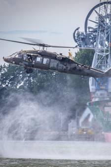 77 helikopters vanaf Eindhoven over Brabant naar Rotterdam