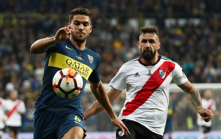 Magallan (links) tijdens de finale van de Copa Libertadores.