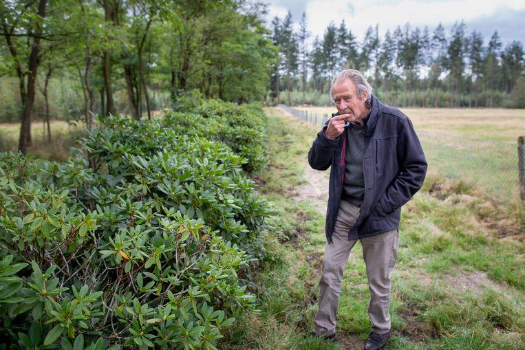 Oene Gorter (80) woont op landgoed Welna bij Epe en kreeg van het Europese Hof gelijk in zijn zaak tegen Nederlandse natuurorganisaties en de staat over onterechte subsidies. Beeld Herman Engbers