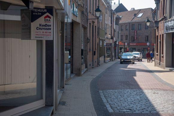 Er is heel wat leegstand in de Wetterse 'winkelstraten'.