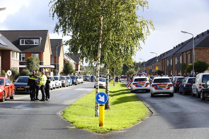 Het ongeval gebeurde op De Hagen in Oldebroek.