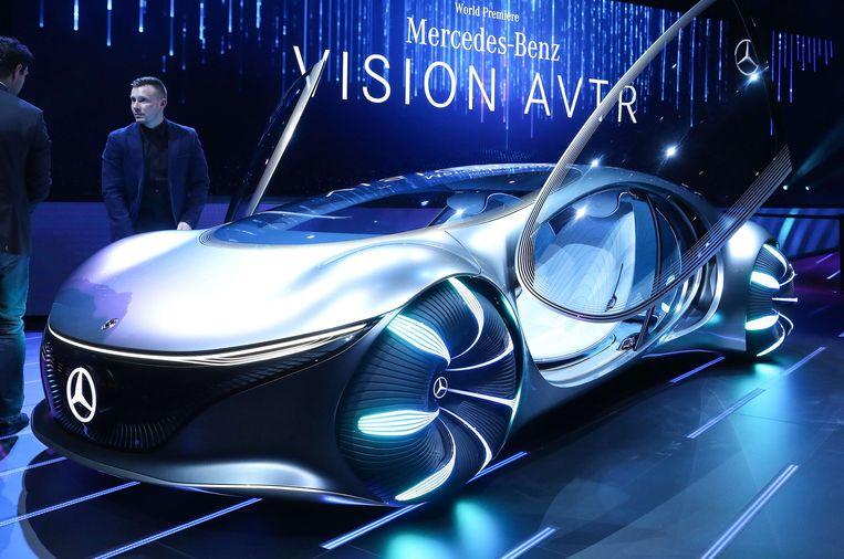 De AVTR van Mercedes-Benz. Beeld AFP