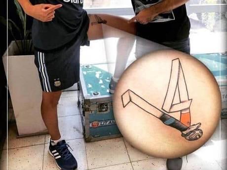 Fan laat tackle Mascherano op Robben op been tatoeëren