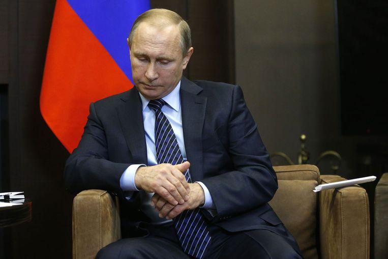 Russische president Poetin Beeld afp