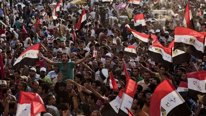 Het gaat er vaak hevig aan toe op het Tahrirplein.