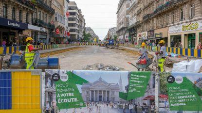Kraan valt om op werf van Brusselse voetgangerszone, geen gewonden