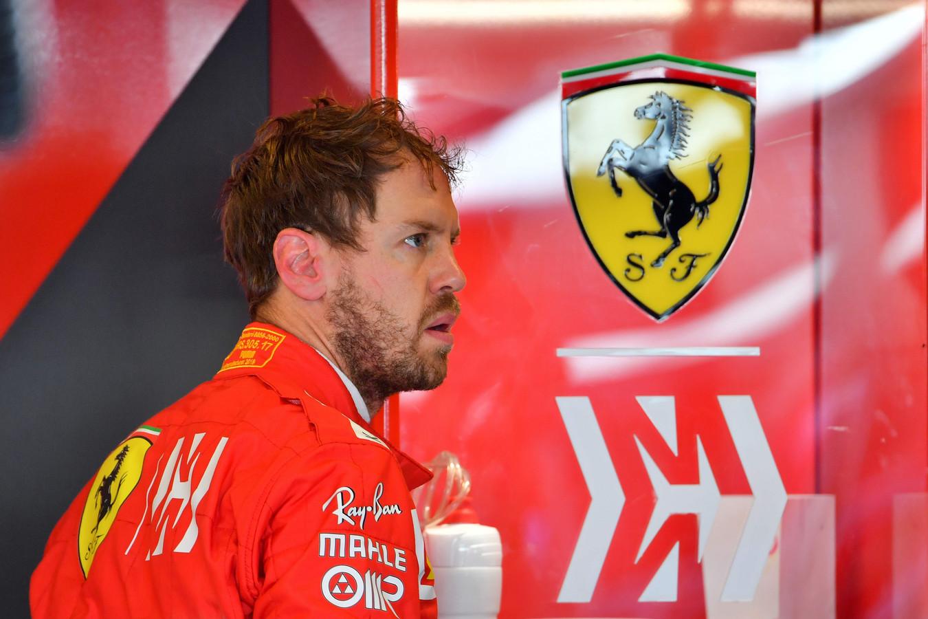 Voor Sebastian Vettel viel er weinig te juichen.