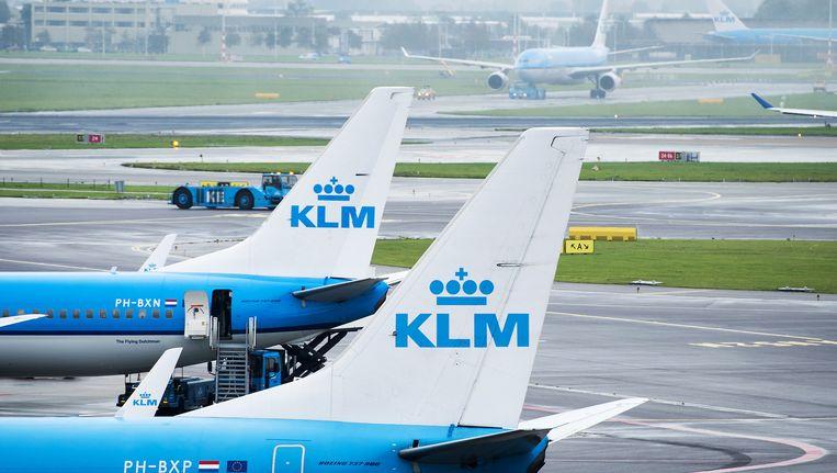 Vliegtuigen van KLM op Schiphol Beeld anp