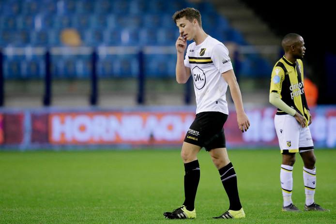 Daan Klomp werd met twee keer geel van het veld gestuurd afgelopen zaterdag.