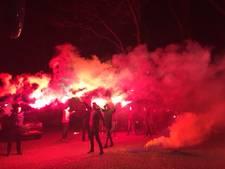RKC met fakkels uitgezwaaid voor wedstrijd tegen Willem II