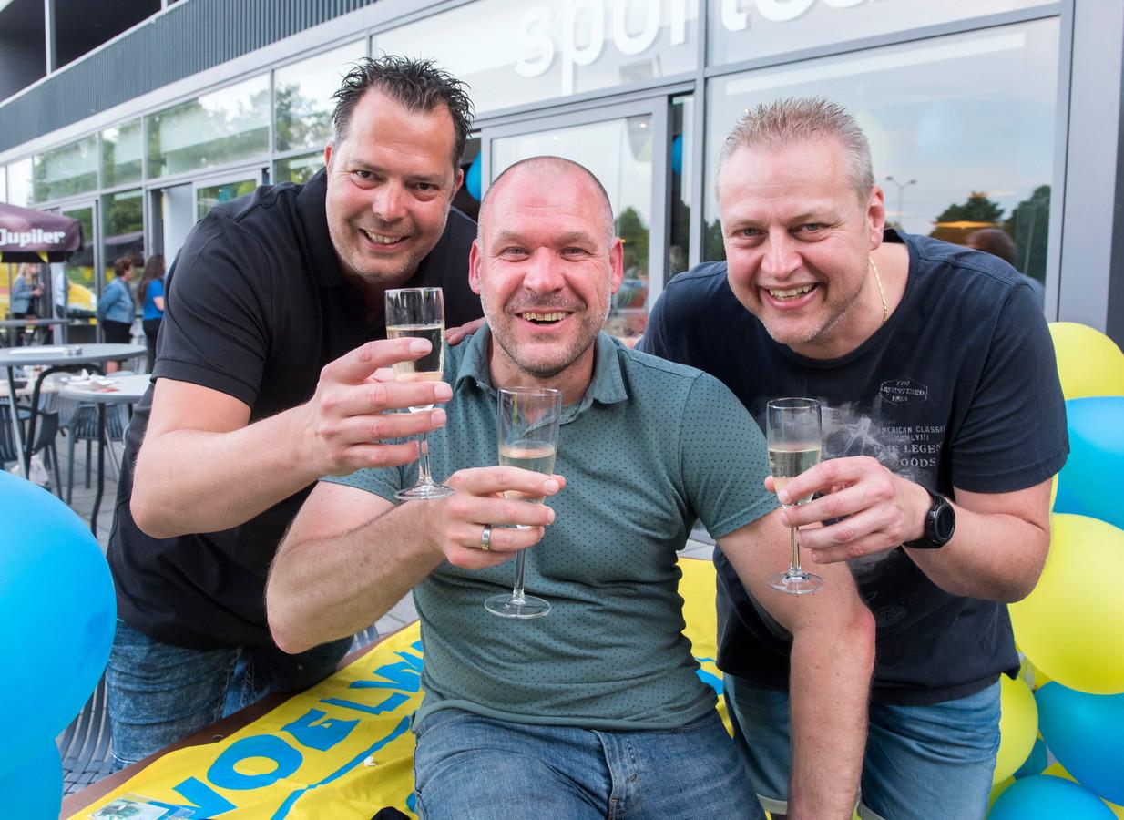 Vincent Plijter, Corné van den Broek en Patrick Schrijvers (vlnr) hebben aangename herinneringen aan Woelwaters.