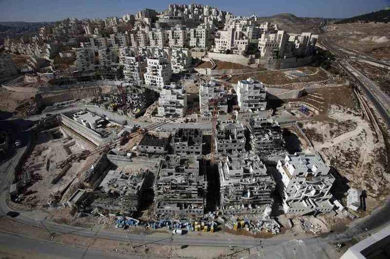 Beeld ter illustratie. De Israëlische nederzetting Har Homa op de Westelijke Jordaanoever.