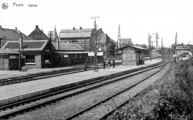 Een oude foto van het treinstation in Puurs