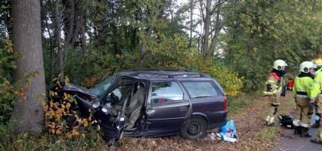 Vrouw verliest macht over het stuur en rijdt tegen boom op N65 bij Helvoirt