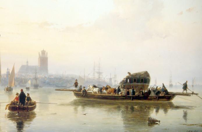 Dordrecht was een waterstad. Wie als reiziger de koets van en naar Dordrecht nam, moest toch altijd nog, met koets en al, op een schip.