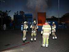Brandje in container aan Zandbergenlaan in Zeist