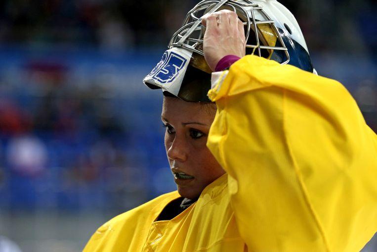 Valentina Lizana Wallner van Zweden tijdens de halve finale tegen Amerika Beeld getty