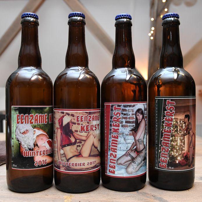 Winterbieren van de Blauwe Knoop in Mill. Ze zullen zondag niet te proeven zijn, omdat het evenement Beer & Music is geannuleerd.