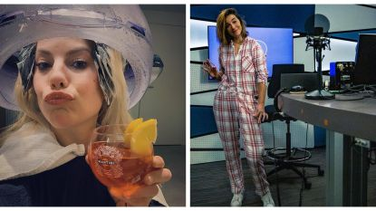 SHOWBITS. Eline De Munck geniet van een luxe kappersbeurt en de BV's halen hun mooiste pyjama's boven