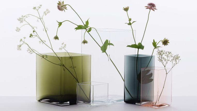 Vazen uit de collectie Ruutu van Iittala. Beeld Morgane Le Gall