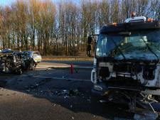 Weg weer vrij na ongeluk op A59 bij Den Bosch, zeker één gewonde