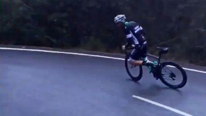 VIDEO: Fast and Furious of wielrennen? Ploegmaat Sagan 'drift' in natte afdaling door bochten