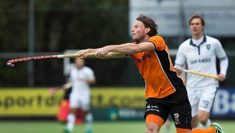 Bob de Voogd van Oranje Zwart, zondag tegen Rotterdam. De Eindhovenaren wonnen met 4-2. Beeld anp