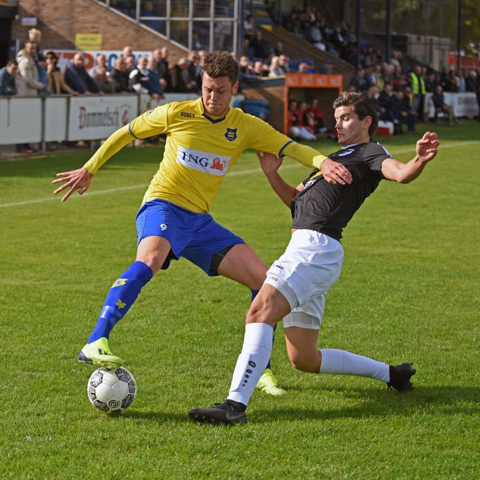 Thomas Schilders scoorde dit seizoen al acht doelpunten, maar kon niet voorkomen dat zijn ploeg met 5-0 onderuit ging in Zeelst. (archieffoto)