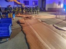Straat in Duitsland bedekt met dikke laag chocola