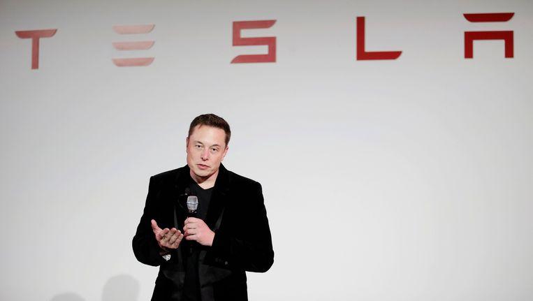 Elon Musk, de CEO van Tesla Motors Inc.