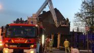 Gevel van woning stort in aan Begijnhof