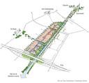 Een schets van de plannen voor Kanaalzone Zuid in Eindhoven, gemaakt voor de twaalf eigenaren van grond in de strook langs de Kanaaldijk-Zuid en Dirk Boutslaan/Lukas Gasselstraat.