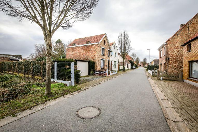 De Zerkegemstraat in Jabbeke, waar het echtpaar samen teruggetrokken woonde.