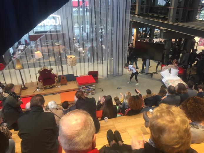 Veel belangstelling bij de officiële opening van de LocHal eind januari.