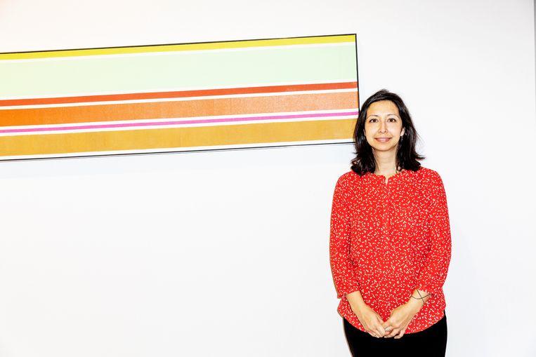 Julie Joseph van galerie Mignoni uit New York voor Shade van Kenneth Nolan Beeld Marie Wanders