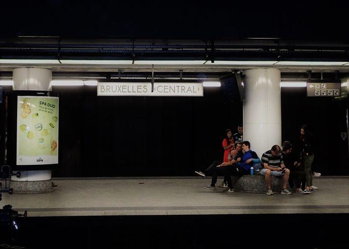 Station Brussel Centraal.