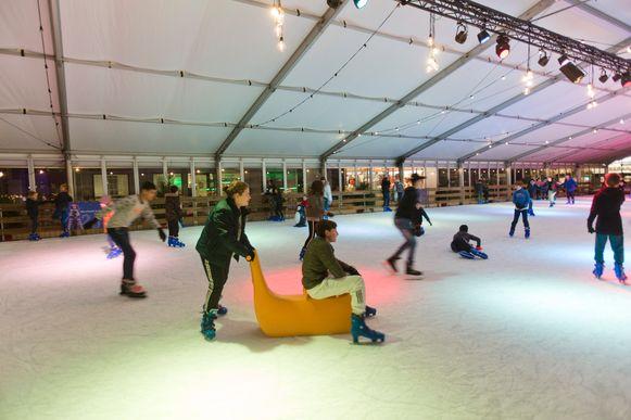 De schaatspiste in Genk.
