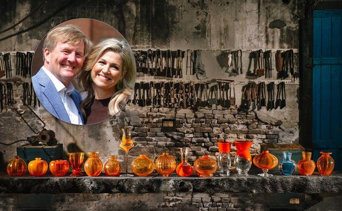 Koning Willem-Alexander en Koningin Máxima hebben laten weten het 'zeer spijtig' te vinden dat Royal Leerdam Crystal de deuren heeft gesloten.