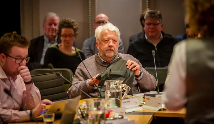 Gerrit Venis, tijdens een gemeenteraadsvergadering eerder deze week.