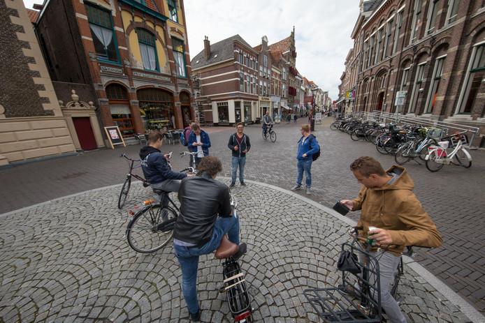 PokemonGo rage in Nederland. Oudestraat Kampen.