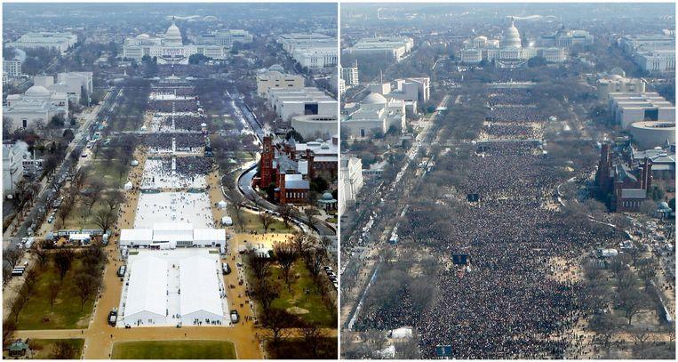 De inauguraties van Trump en Obama in beeld Beeld reuters
