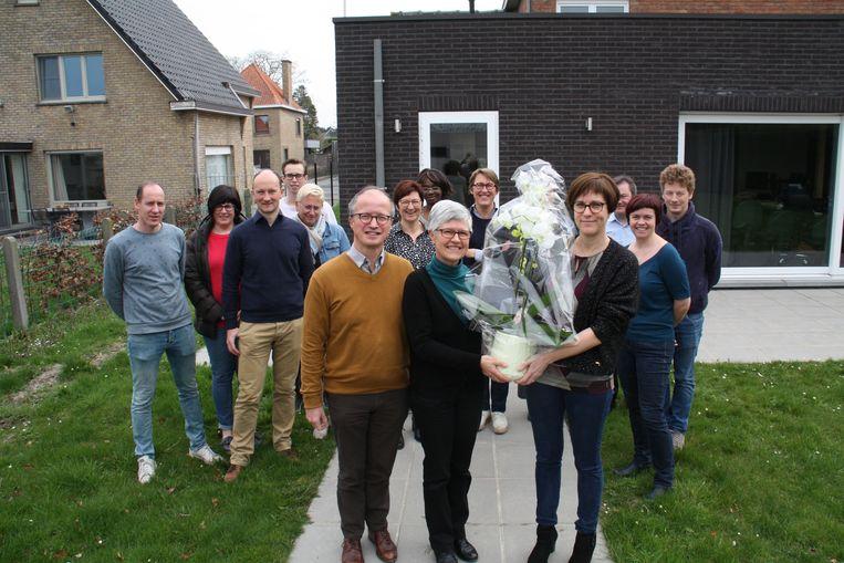 Ludwine Wyffels doet vandaag na 40 jaren dienst de boeken van de boekhouding van 't Saam campus Cardijn&Aloysius dicht.