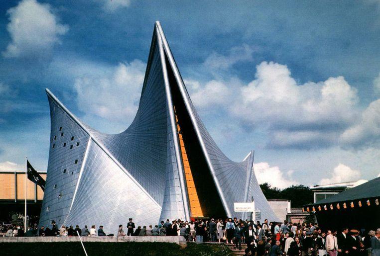 Het paviljoen van Le Corbusier in 1958 in Brussel. Beeld Tumblr