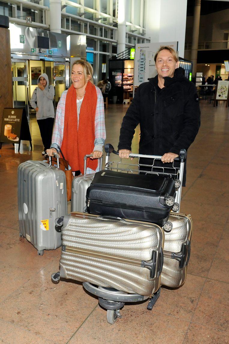 Karen Damen en Regi kwamen als laatsten aan in Zaventem.