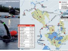 Wat op de schaats nog nooit is gedaan, gaan ze zwemmend doen: 200 kilometer door grachten en meren in de Kop van Overijssel
