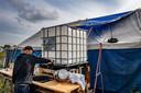 Nijmegen/Nederland: Krakers op perceel t.o NXP. Regenwateropvang. Dgfoto Foto: Bert Beelen