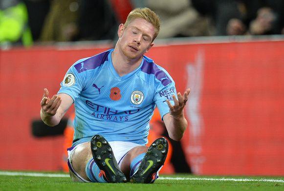 De Bruyne pakte uit met enkele geweldige passes, maar bleef net als Man City gefrustreerd achter.